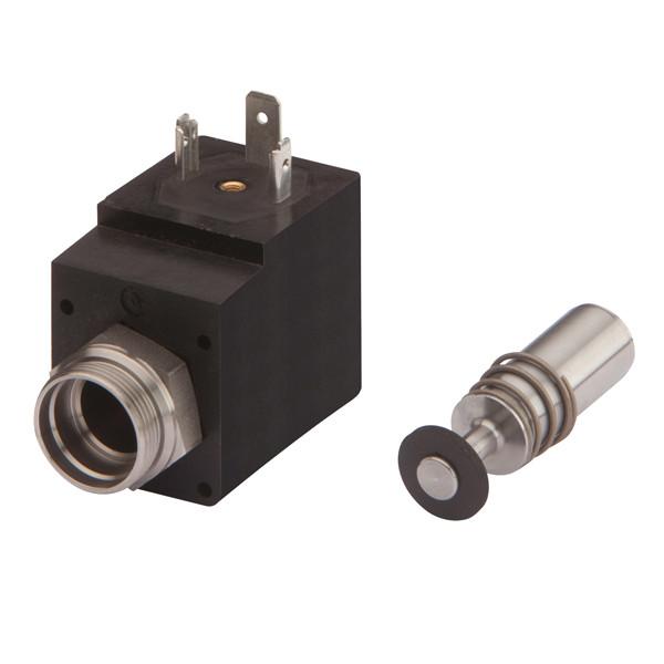 Solenoid valve with plunger/spring 2/2, seat depth 10 mm, M20 x 1