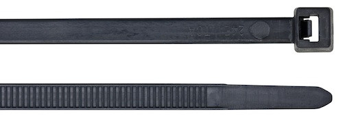 100 Cable ties Black, 300 x 4.8 mm