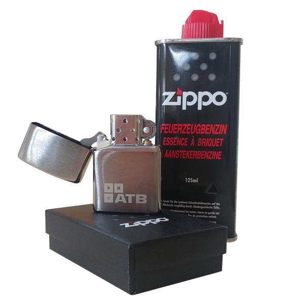 Zippo lighter with ATB logo