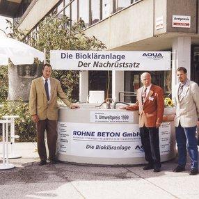 Umwelttechnik Messe in Rostock, auf der ATB ersten Umweltpreis bekommen hat