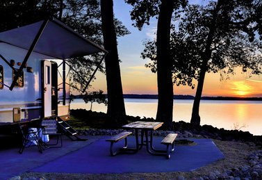 Camping am See mit ATB