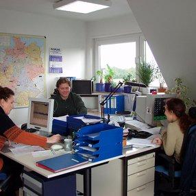 Büro damals im Jahr 2000 noch im Wohnhaus der Familie Baumann